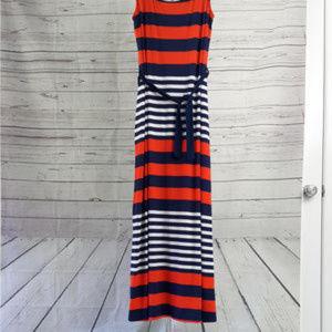 Stitch Fix Gilli Maxi Dress - Navy Orange S